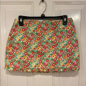Lilly Pulitzer Women's Sz 0 Floral Mini Skirt